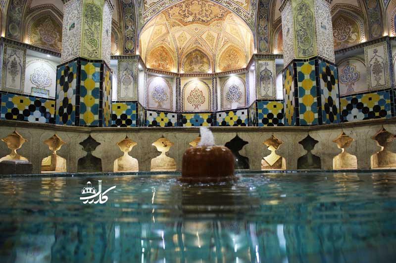 حمام سلطان میر احمد از شاهکاری هنر ایرانی   باغ فین کاشان   کاشان گردی   جاهای دیدنی کاشان   مقاصد گردشگری کاشان   تور یک روزه به کاشان   یک روزه به کاشان