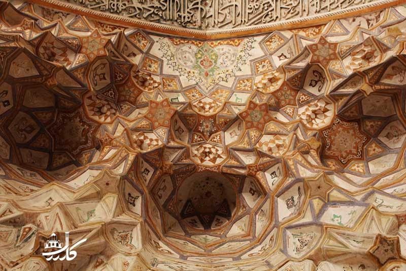 مقرنس کاری عالی مسجد آقا بزرگ