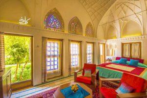 عکس هتل سرای خانه عامری ها در کاشان | اسامی هتل های کاشان