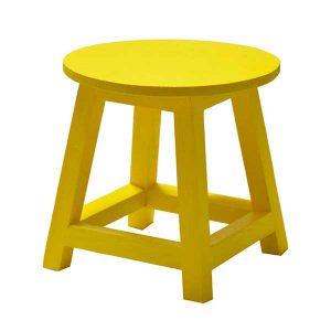 چهارپایه گلدان چوبی رنگی
