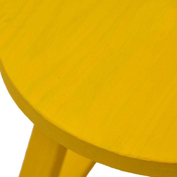 چهارپایه گلدان چوبی رنگی | چهارپایه چوبی گرد