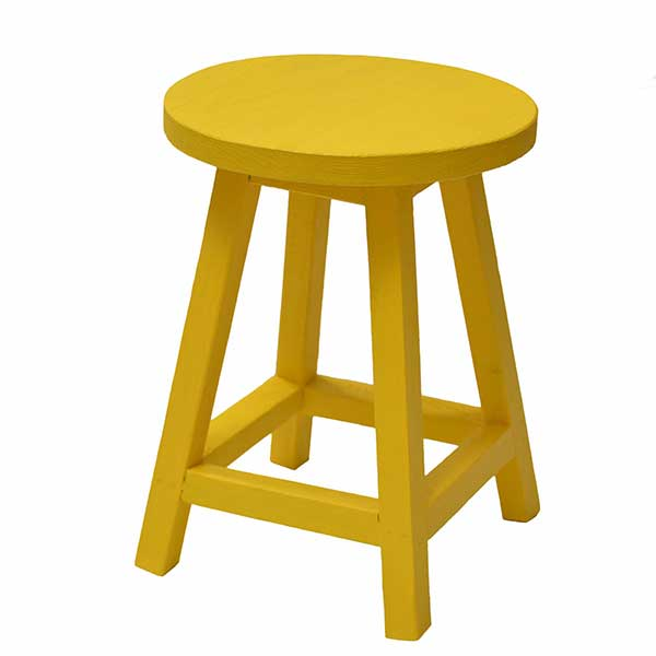 چهارپایه چوبی گرد
