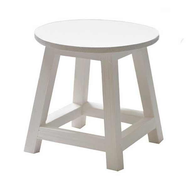عکس چهارپایه گلدان سفید | چهارپایه رنگی
