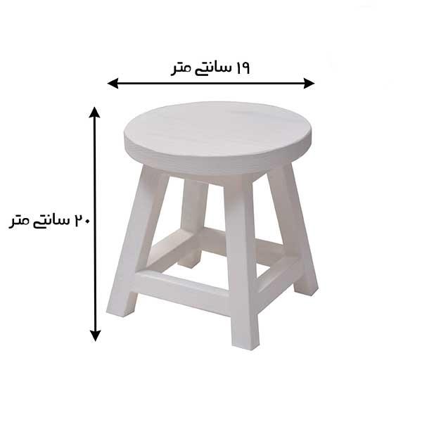 عکس چهارپایه گلدان سفید