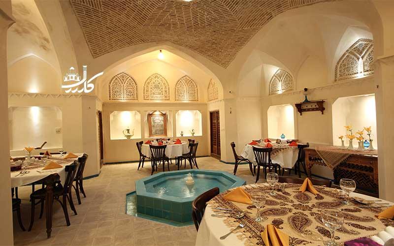 عکس رستوران هتل مهینستان راهب کاشان